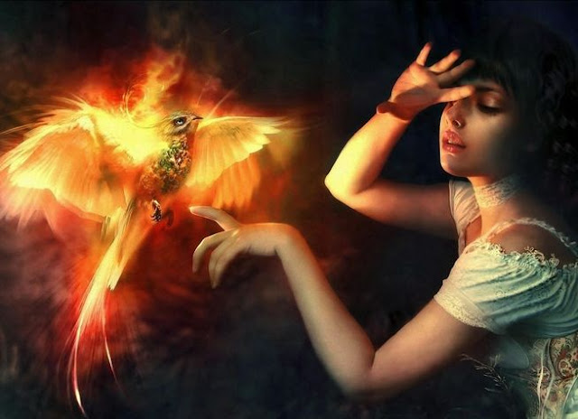 Girl and Fire Bird