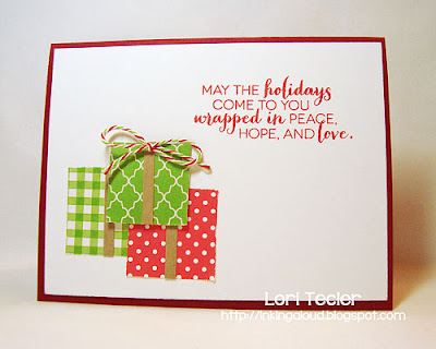 Wrapped in Peace, Hope, and Love-designed by Lori Tecler-Inking Aloud-stamps from Clear and Simple Stamps