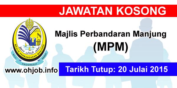 Jawatan Kerja Kosong Majlis Perbandaran Manjung (MPM) logo www.ohjob.info julai 2015
