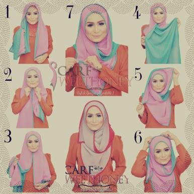 Model Hijab Segi Empat Sederhana