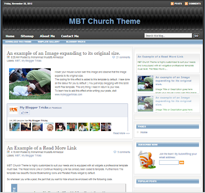 MBT (My Blogger Tricks Template)