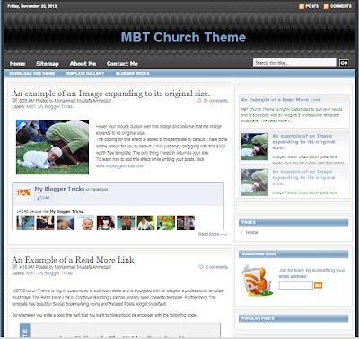 MBT (My Blogger Tricks Template)