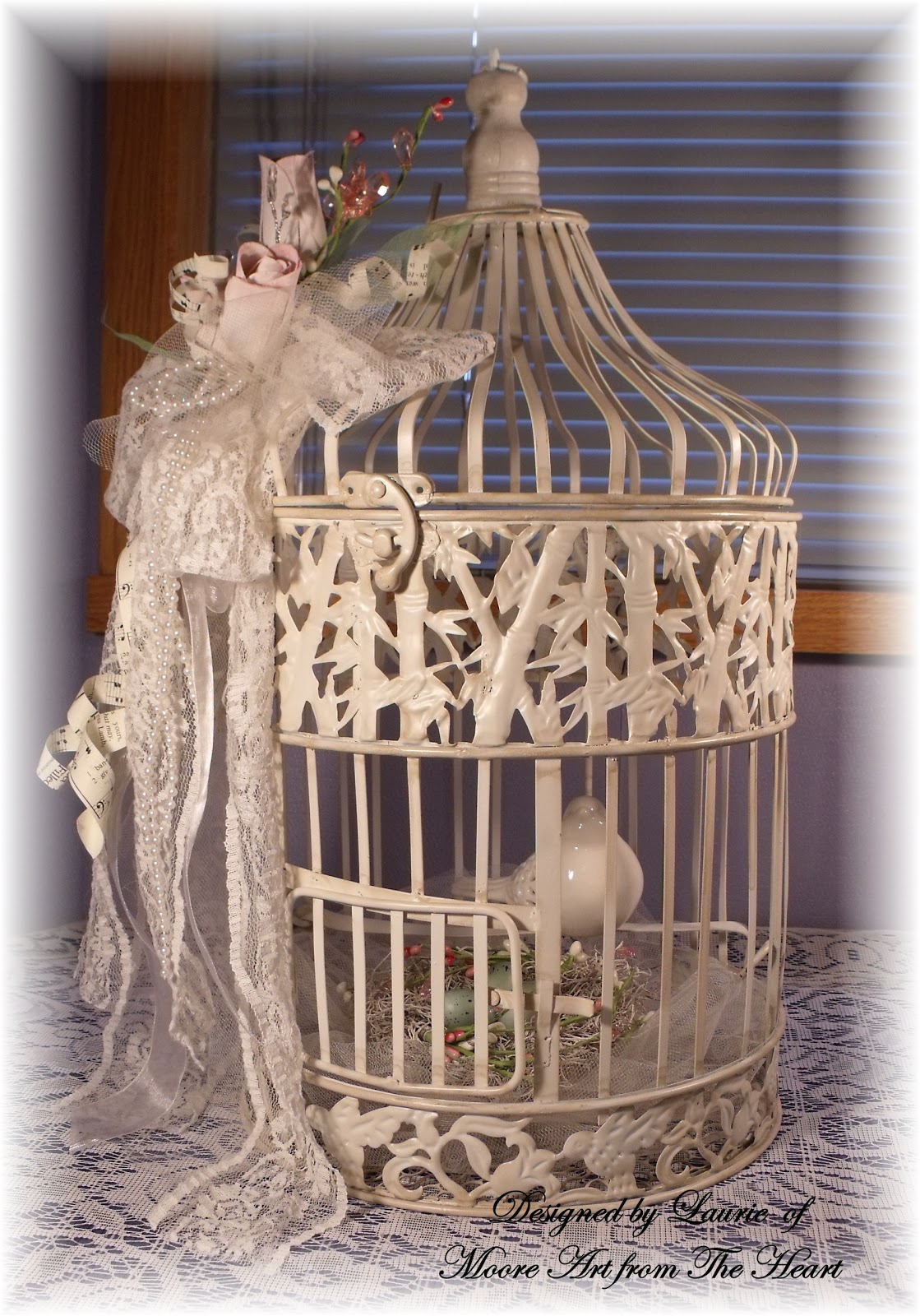 moore art from the heart vintage shabby chic birdcage. Black Bedroom Furniture Sets. Home Design Ideas
