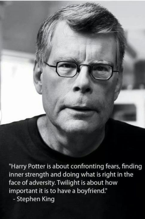 Stephen King Thoughts on Harry Potter and Twilight