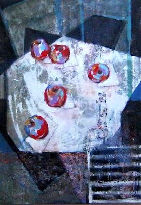 Инга Волокина, Стол,стулья, яблоки, 2012