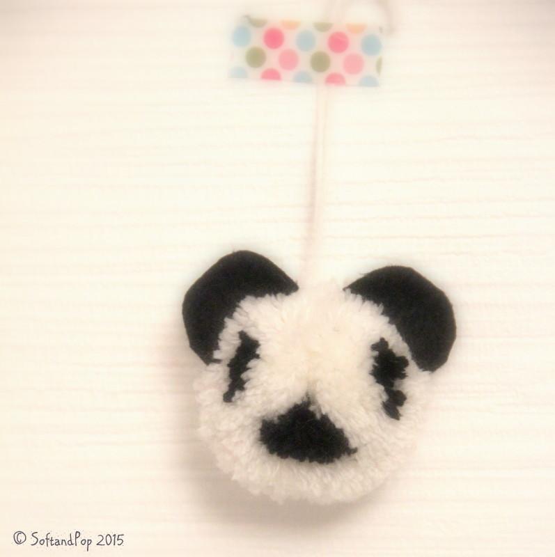 Panda pompon SoftandPop
