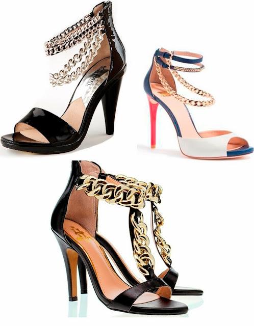 sandália sapato rasteirinha corrente