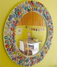 Como hacer un marco para espejo - Como decorar un espejo sin marco ...