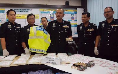 Makmal, proses, dadah, diserbu, Johor Bharu, Johor, Jalan Masai Lama, Plentong, Jenayah, Malaysia