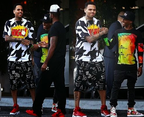 Wizkid and Chris brown In America
