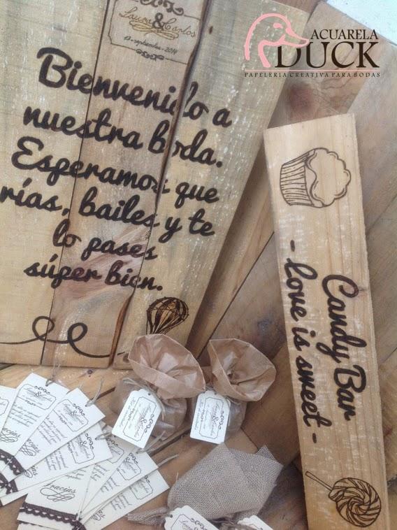 carteles madera boda
