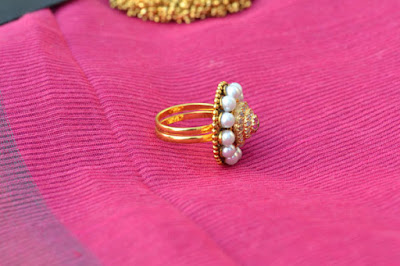 Pearl ring Indian Jewellery Perkymegs