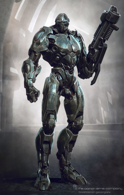 Tsvetomir Georgiev ilustrações artes conceituais e modelos 3D filmes Herói robô