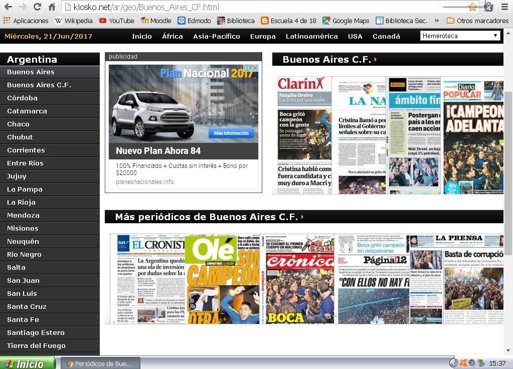 HEMEROTECA: Diarios digitales de hoy
