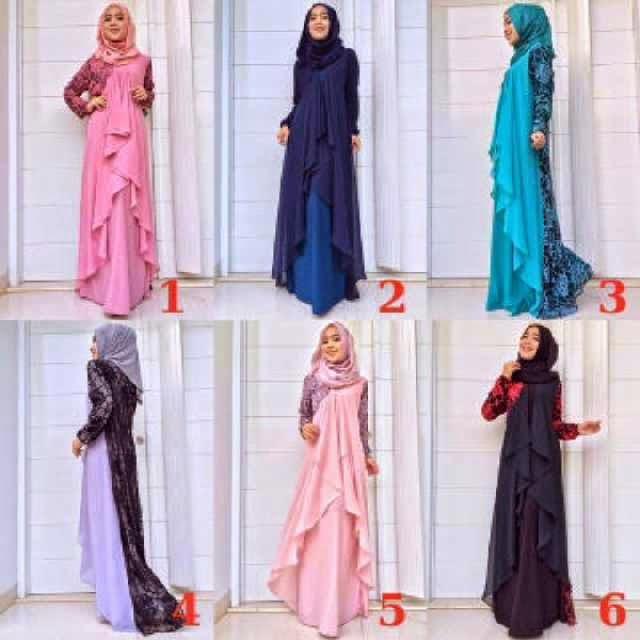 Baju Gamis Celana Terbaru Benita Dress By Queenalabels