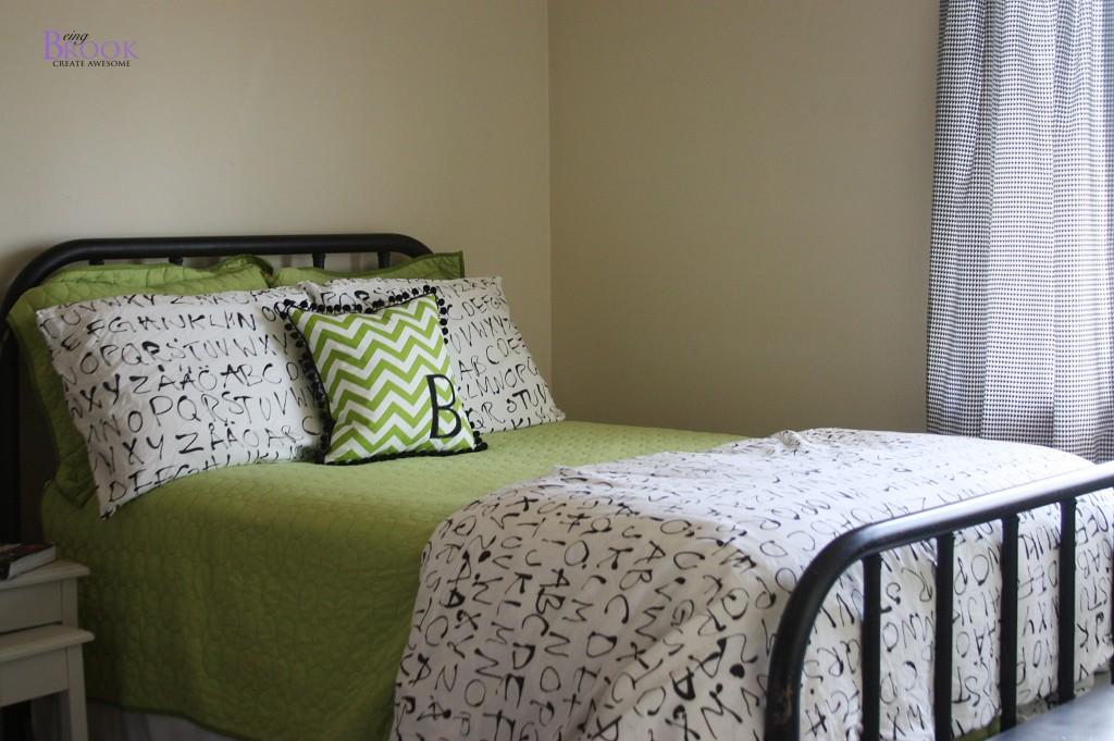 Zig Zag Monogram Pillow Boys Skateboard Bedroom Beingbrook