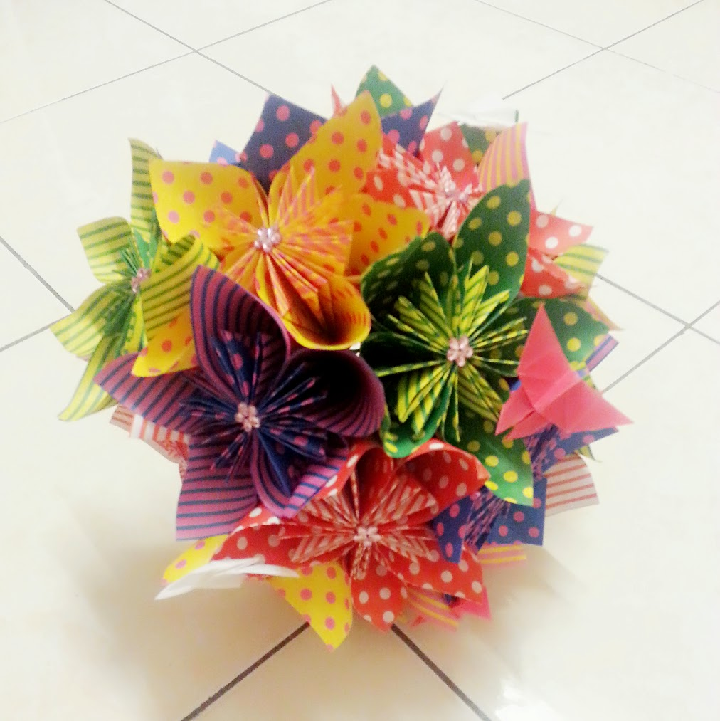 Origami Flowers Memoire Of Elainejace