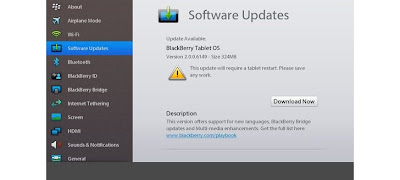 BlackBerry Playbook OS 2.0.0.6149 Beta update