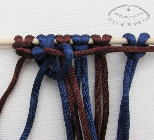 węzeł rypsowy - makrama - 12