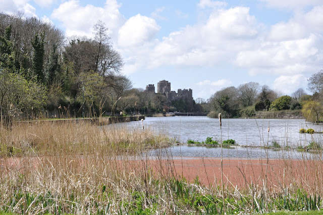 View from the riverside walk down to the castle