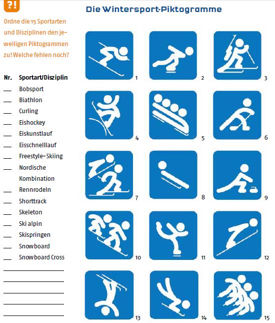 Arbeitsblatt Olympische Winterspiele : Free german deutsch lernen kostenlos olympia in sotschi