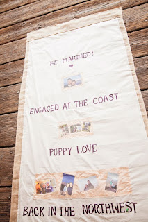 Custom aisle runner for Kelsey & Segei's wedding - Kent Buttars, A Heavenly Ceremony