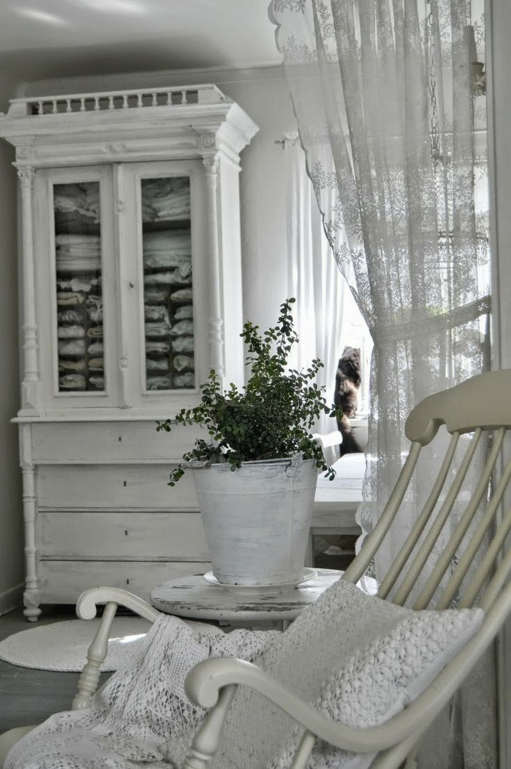 Moois en liefs shabby in wit - Soggiorni country chic ...