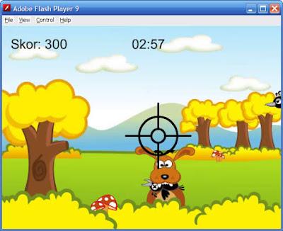 Tutorial membuat game shooting dengan macromedia Flash