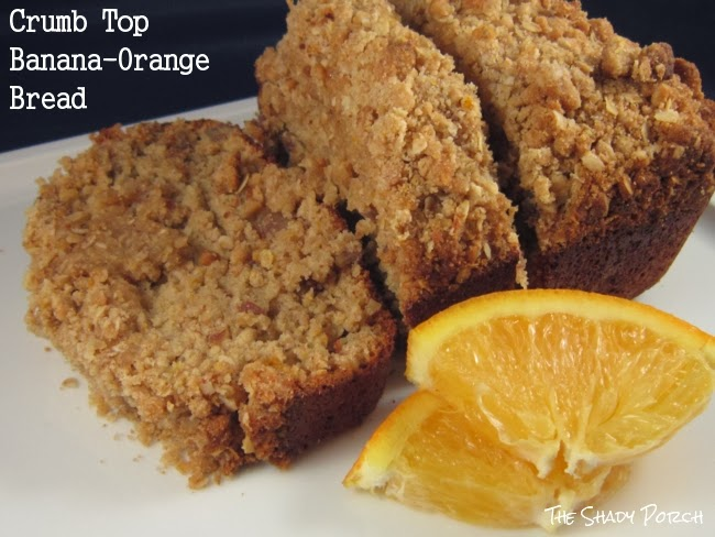 A healthy breakfast, snack or treat - Crumb Top Banana-Orange Bread.