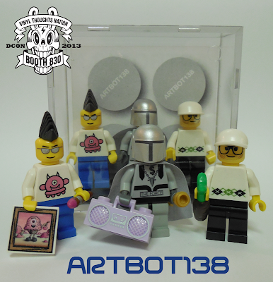Legends of Vinyl Custom LEGO Mini Figure Set #1 featuring Sucklord, Buff Monster & Scott Tolleson by Artbot138