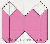 Bước 12: Hoàn thành cách xếp cái áo khoác nữ bằng giấy theo phong cách origami.