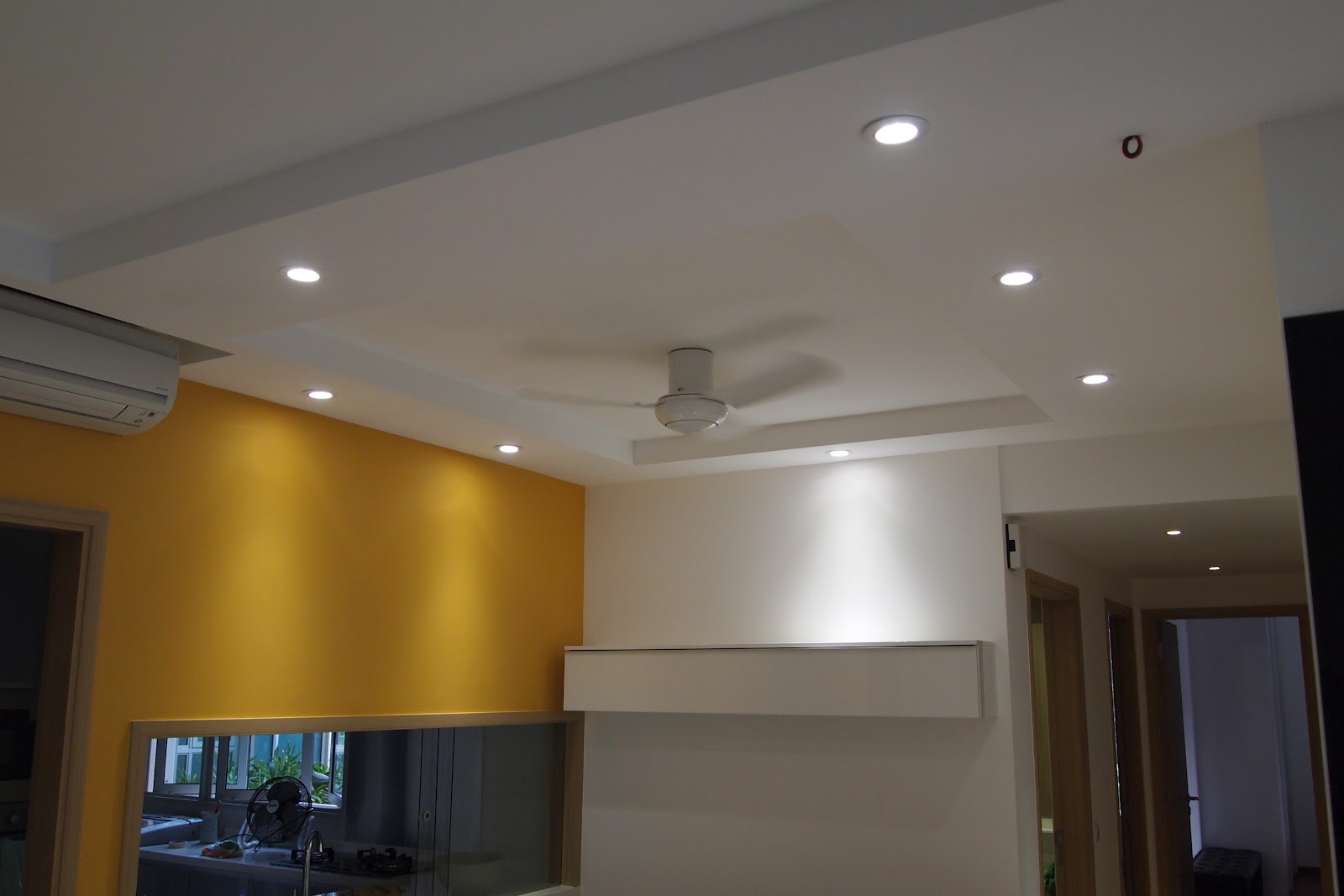 Ceiling Light Box Loose : Plaster ceiling partition drywall singapore the caspian