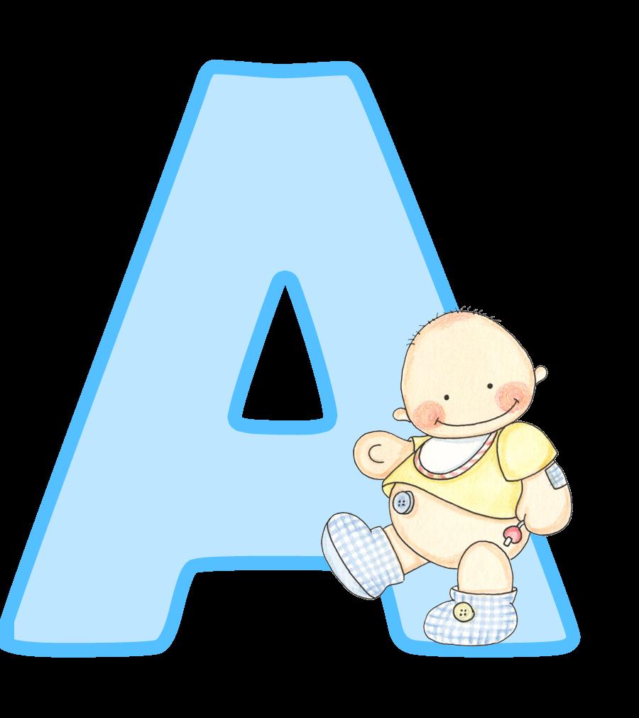 Colecci n de gifs letras may sculas para imprimir de beb - Letras decorativas para ninos ...