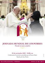 15 de NOVIEMBRE: IV JORNADA DE LOS POBRES
