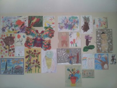 art wall, kids' art