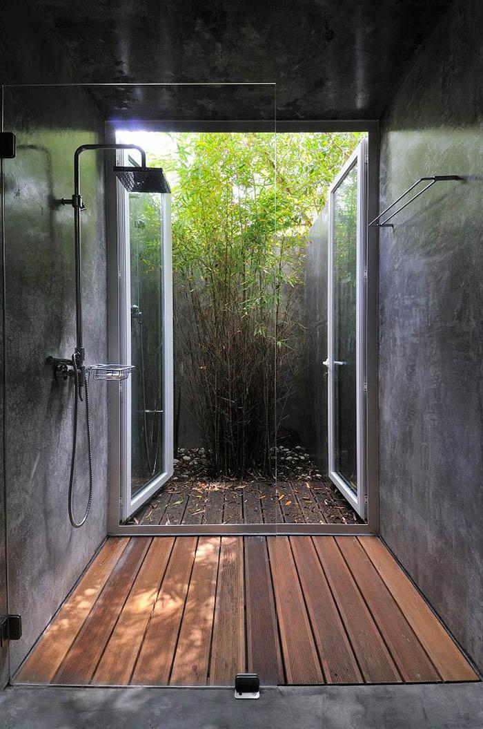 baño gris revestimiento  microcemento design