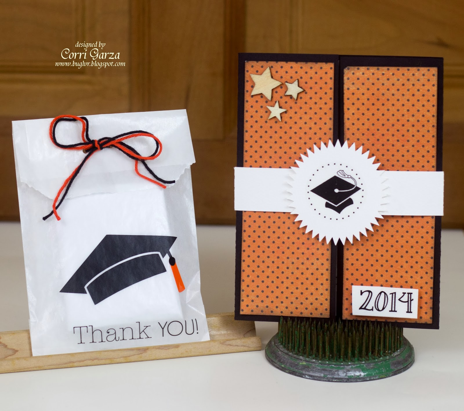 SRM Stickers Blog - Graduation Invite & Favor by Corri - #card #glassine #bag #2014 #graduation #stickers #vinyl #twine