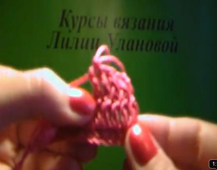 Вязание крючком рельефный столбик
