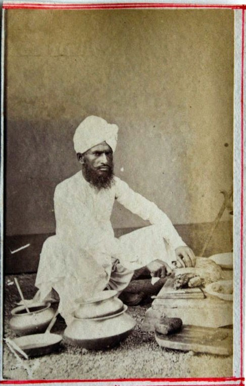 Indian Cook - Vintage Photograph, c1880's