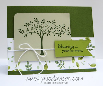Stampin' Up! Thoughts & Prayers Sympathy card with English Garden Designer Paper #stampinup #sympathy www.juliedavison.com
