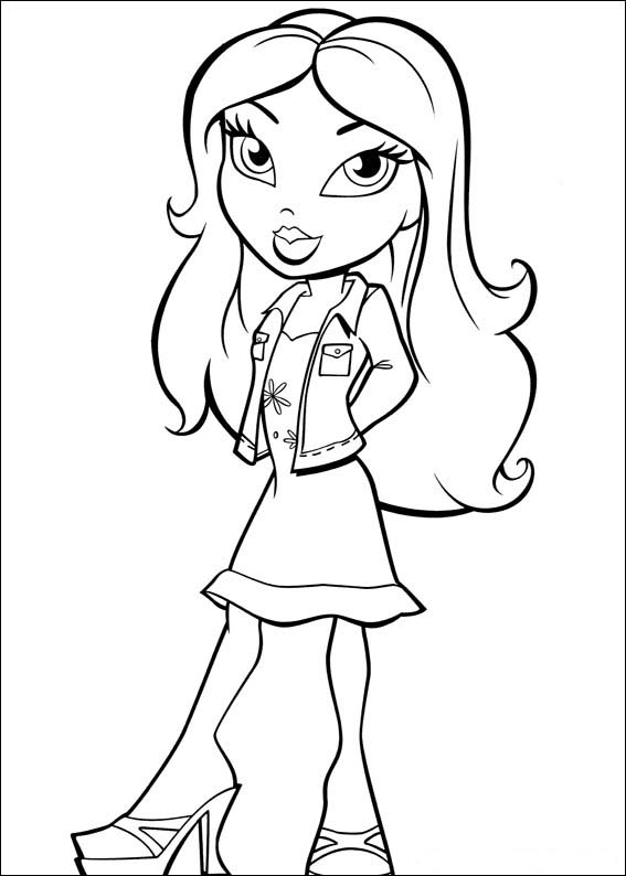 coloring pages bratz - photo#15