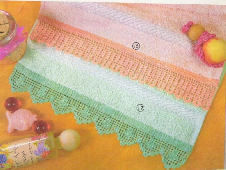 Ganchillo para toallas   laboresdeesther Ganchillo y crochet