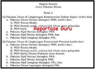 Aturan Baru Seragam PNS Berdasarkan Permendagri Nomor 68 Tahun 2015