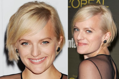 Elisabeth Moss short haircut with bangs