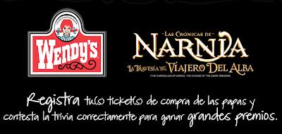 premios viaje orlando florida concurso wendys Narnia Mexico 2011