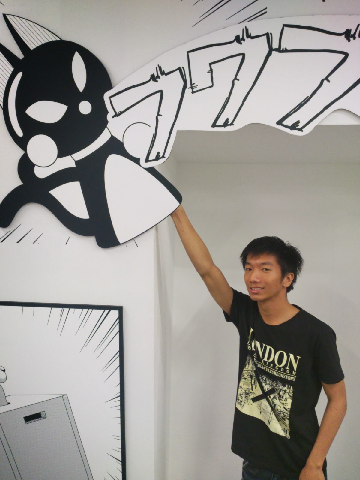 Doreamon Black&White Comics at the wall