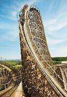 Holzachterbahn Mammut Lifthill