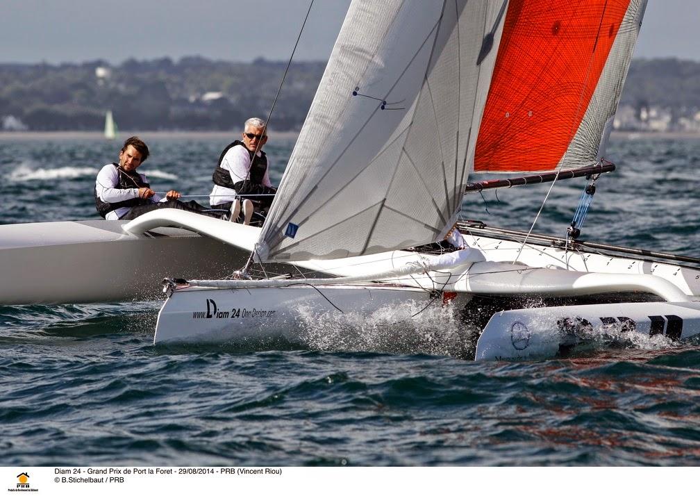 Vincent Riou a beaucoup navigué en Diam 24 depuis le début de l'année.