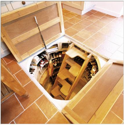 ... kitchen floor wine cellar might be just for you. The five steps extend  down into the basement or crawl space of your home while giving a huge  amount of ...