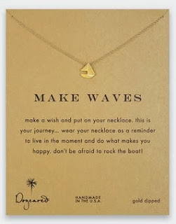 Dogeared make waves sailboat necklace